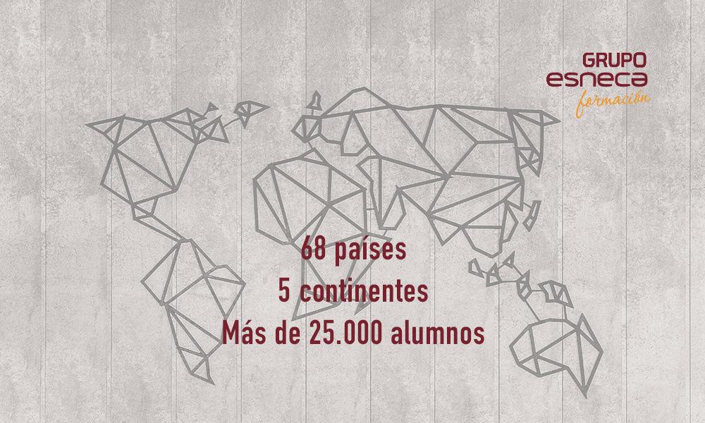 Grupo Esneca, presente en 68 países y en los 5 continentes