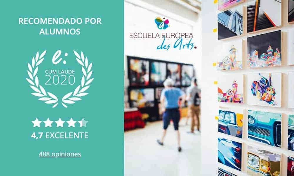 Quinto sello Cum Laude para Escuela Des Arts por opiniones favorables