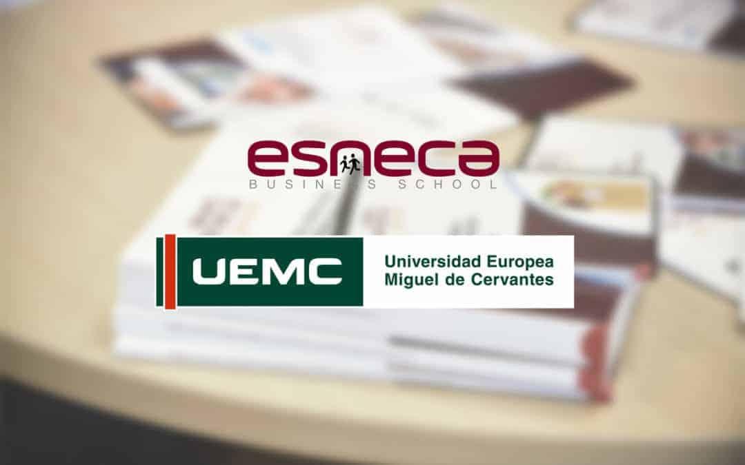 Convenio entre Esneca y Universidad Europea Miguel de Cervantes