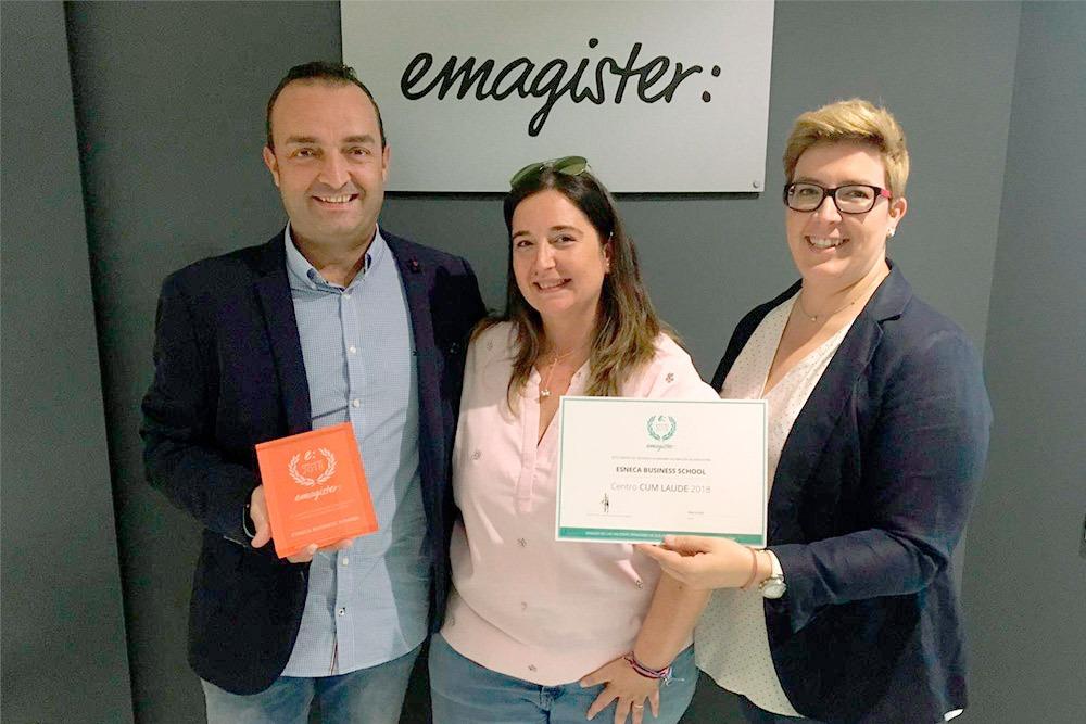 Las escuelas de Grupo Esneca recogen el Cum Laude 2018 de Emagister